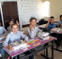 Our PCRF humanitarian team in Jenin is reaching remote and neglected areas to provide help for kids starting the new year