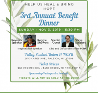 "Raleigh ""Help Us Heal And Bring Hope"" Benefit Dinner"
