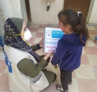 Humanitarian Distribution for Needy People Near Hebron