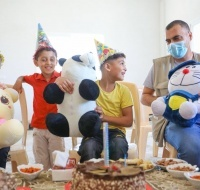 Two Orphans Enjoy a Birthday Party in Gaza