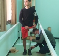 16-year-old Has a New Leg Built in Gaza