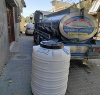 Fresh Water Provided for Families Affected in Last Month's Bombings in Gaza