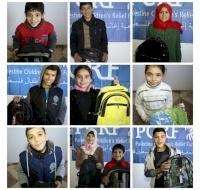 Syrian Refugee Children in Gaza Get School Bags