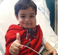 Gaza Boy Recovering from Treatment in Chicago