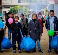Winter Distribution in Gaza Starts in Central Gaza