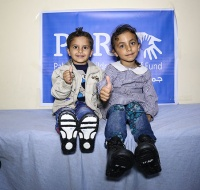 Medical Shoes Distributed to Poor Children in Northern Gaza