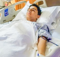 Gazan Boy Recovering from Surgery