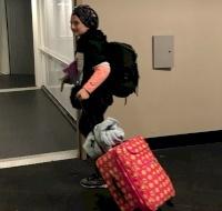 Palestinian Girl Returns Home