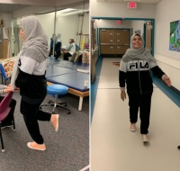 Palestinian Girl Continues Physical Therapy