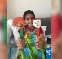 Palestinian Boy Healing from Surgery in Dubai