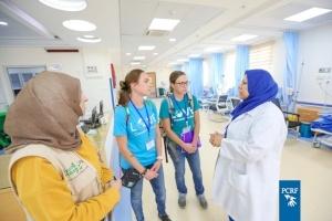Volunteer American pediatric chemotherapy nurses visited Dr. Musa and Suhaila Nasir Pediatric Cancer Department in Gaza
