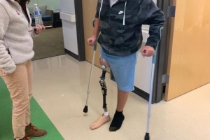 Injured Boy Gets New Leg in Portland