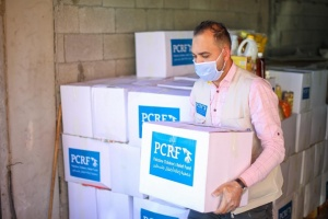 Urgent food distribution in Gaza