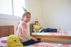 Two Orphans Enjoy a Birthday Party in Gaza