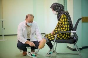 Weam Gets Her Leg Repaired in Gaza