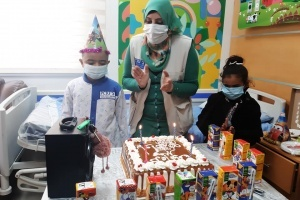 Wael turns six years old on the same day he is done with chemotherapy