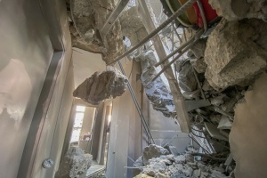 Gaza PCRF office destroyed in an air strike