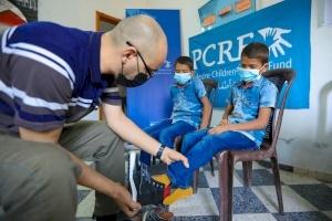 Shoe Distribution in Gaza for Children