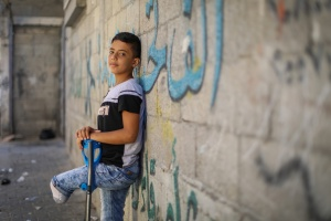 Injured Gaza Boy Arrives For Treatment