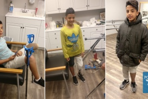 Gazan Boy's First Time Walking Independently