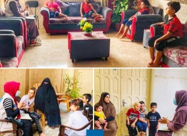 Psychosocial sessions for children with cancer and blood diseases in Gaza