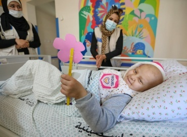Marwa from Gaza Gets Help in our Cancer Department