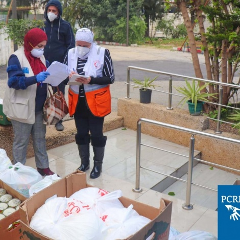 Nablus Team Provides High At-Risk Persons Infection Control Supplies