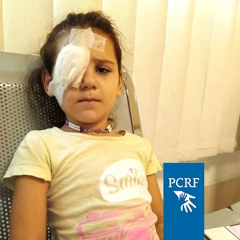 Syrian Girl Has Eye Surgery in Lebanon