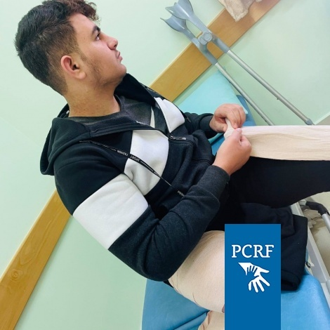 Thaer Continues his Treatment in Gaza