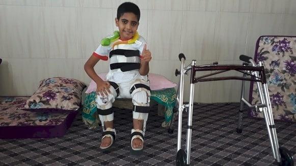 Gaza Boy Returns from UAE Following Treatment