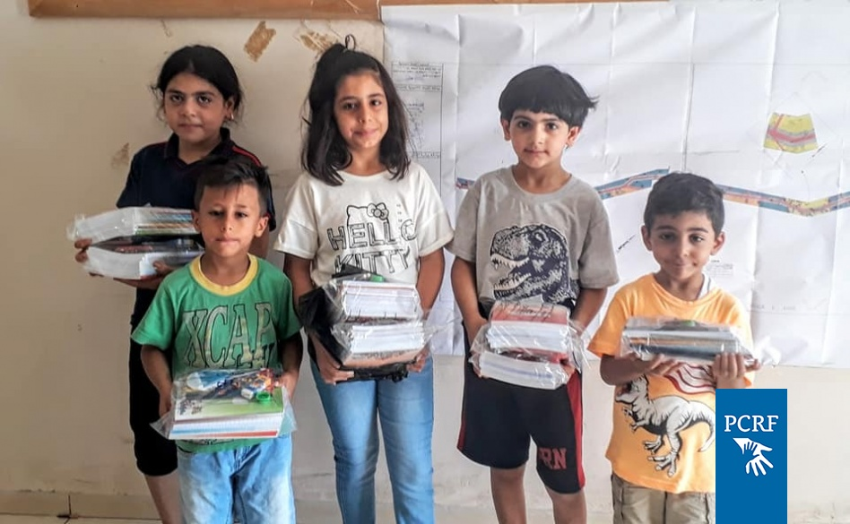 This week PCRF is distributing school supplies for children in Palestine.