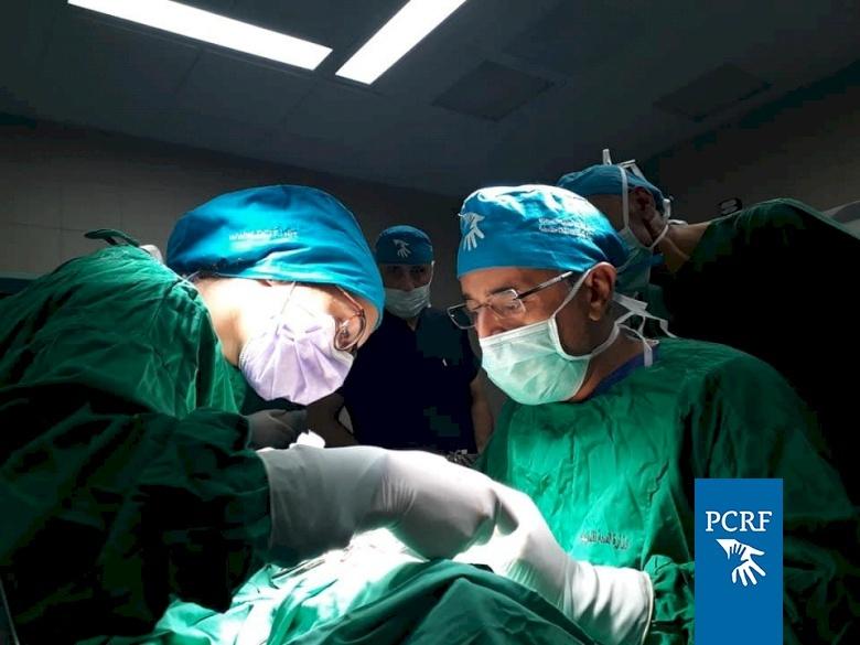 Maxillofacial Surgery Team Operates in Hebron