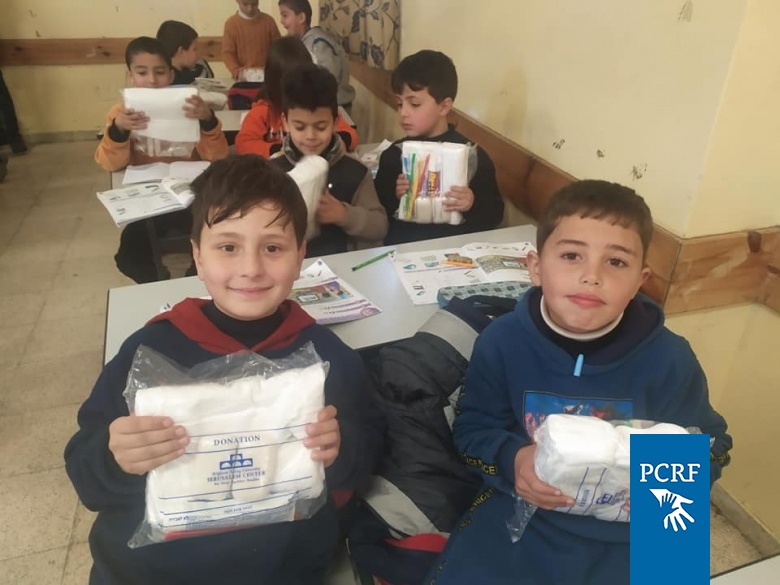 Hygiene Kits Distributed in Hebron Conflict Area