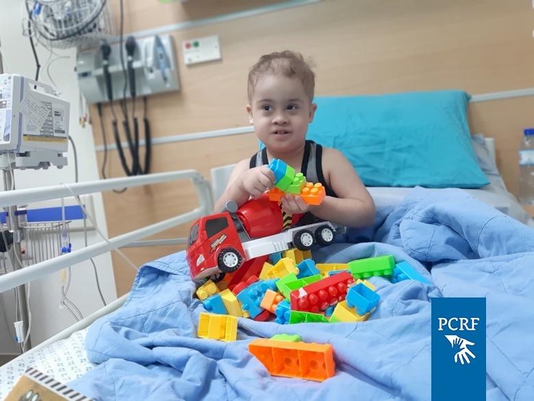 Gaza Child Returns for Treatment from the Huda Al Masri Pediatric Cancer Department