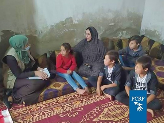 Home Mental Health Sessions for Sick Children's Families in Gaza