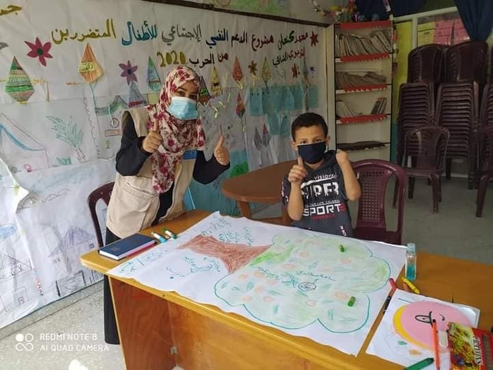 Gaza Boy Improve Through Therapy Sessions