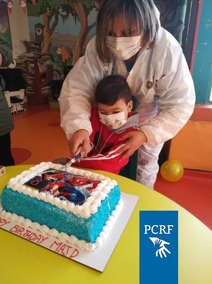 Majd from Gaza Celebrates his 8th Birthday Party