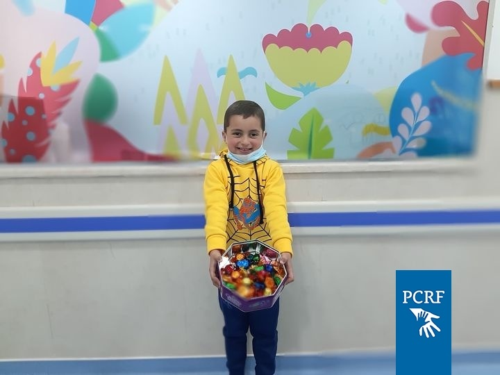 Ezzeldin Returns with Sweets for the Department after Successful Treatment