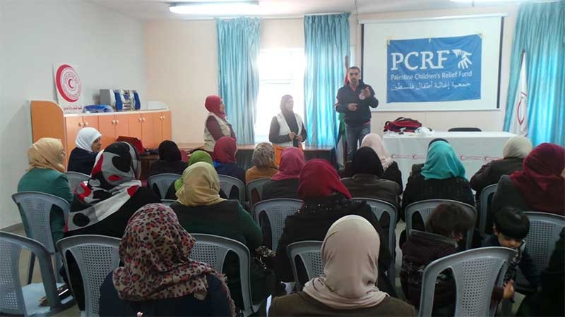 The PCRF Sponsors First-Aid Training in Nablus