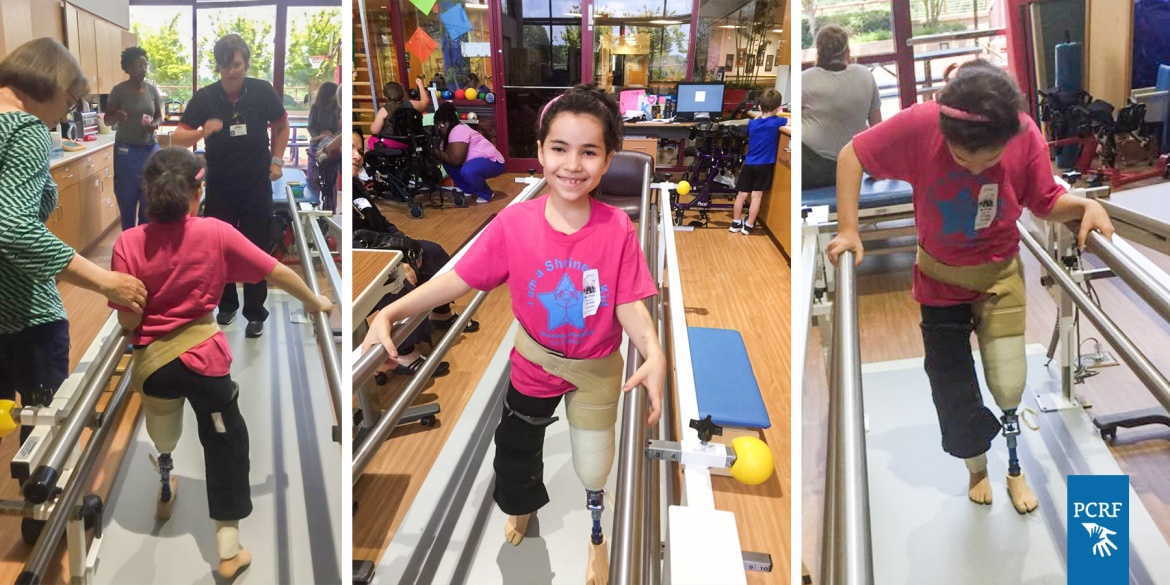 Gazan Girl Starts to Walk for the First Time