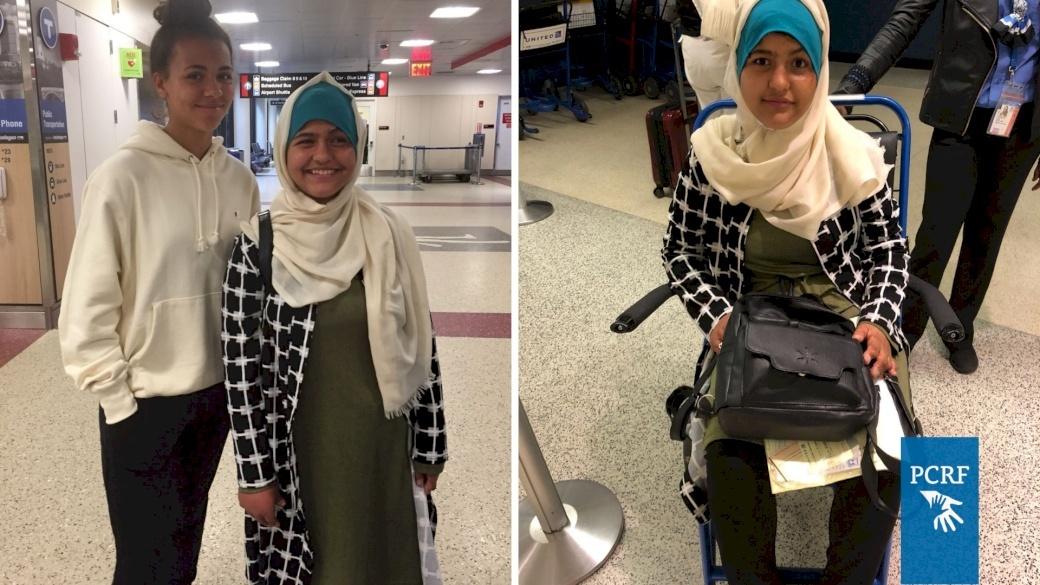 Teenage Gaza Girl Arrives in Boston for Medical Treatment