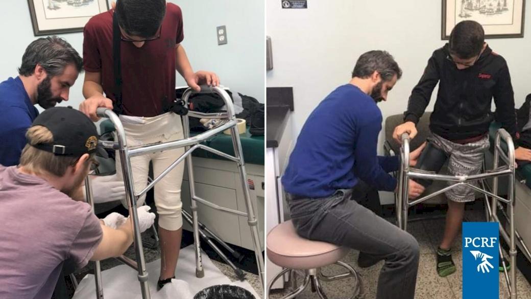 Injured Gazan Boy Starts Treatment in Detroit
