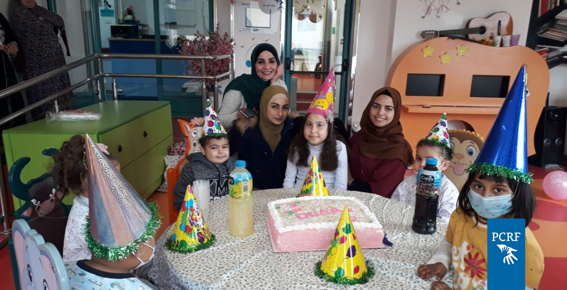 Duaa from Gaza celebrated her 12th birthday in the Huda Al Masri Pediatric Cancer Department