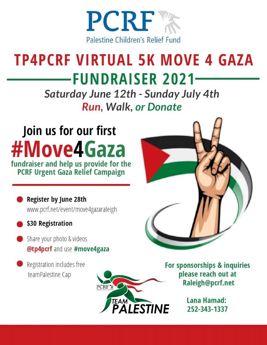 Raleigh Move for Gaza 5k